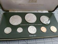 1978 SILVER Trinidad and Tobago Proof Set Franklin Mint Original Box & COA