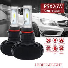 P13W/PSX26W 6000K White 8000LM LED Head Light Fog DRL Driving Lamp Bulbs Pair