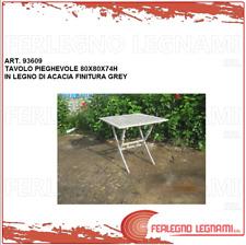 TAVOLO PIEGHEVOLE GREY IN LEGNO DI ACACIA 80X80X74H ART. 93609