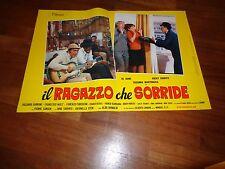 Fotobusta,, IL RAGAZZO CHE SORRIDE AL BANO CARRISI ROCKY ROBERTS MUSICALE 1969