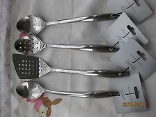Jasper Conran 4 Set MRP£40 Serving Spoon/Ladle + Slotted Spoon +Turner +Gift £9