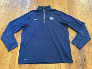 Butler University Bulldogs 1/4 Zip Jacket by NIKE Dri-Fit Men's Large