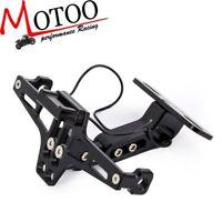 Motorcycle CNC Rear License Plate Mount Holder Bracket LED Light For Honda Grom