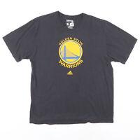 ADIDAS Golden State Warriors Black Sports Short Sleeve T-Shirt Mens XL