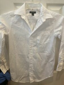 White  Youth Boys George Long Sleeve Button Down Size Large 10/12!