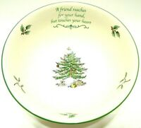2003 SPODE ANNUAL CHRISTMAS TREE REVERE BOWL PORCELAIN MADE IN ENGLAND IN BOX