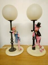 2 x 1970s Pink Panther Table Lamp Light - Linea Zero Italy 1 complete both worki