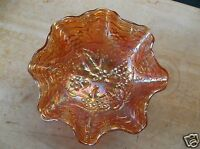Imperial Grape Marigold Carnival Glass Ruffled 5 1/2-Inch Bowl