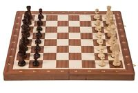 SQUARE - Wooden Chess Tournament No. 6 Mahogany - Chessboard & Chess Pieces