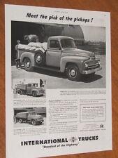 1951 International Trucks original US large full page advertisement