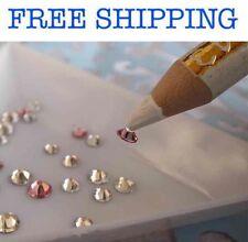 USA Set Magical Triangle Tray Wax Pencil Rhinestone Pick Up Nail Art DIY decoden