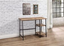 Birlea Urban Industrial Chic Study Desk Dressing Table Wood Black Metal