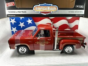 Ertl 1978 Dodge Lil Red Express Pickup Truck 1:18 Canyon Red Diecast Car