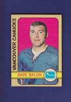 Dave Ballon 1972-73 O-PEE-CHEE OPC Hockey #162 (NM) Vancouver Canucks