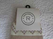 Richer Poorer Womens Pair of Socks 6-9 'Sea Farer - Tan' Geometric Patterned NWT