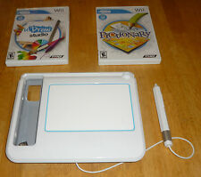 Wii UDraw Game Tablet with Pictionary and UDraw Studio Games Tested Fast Ship!