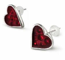 Alchemy England - Heart's Blood Studs, Earrings Red Punk Love Swarovski crystals