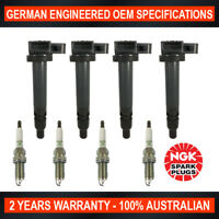 4x Genuine NGK Spark Plugs & 4x Ignition Coils for Toyota Landcruiser Prado