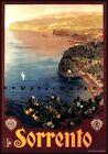Sorrento 1927 Italy Vintage Poster Print Retro Style Italian Travel Wall Art