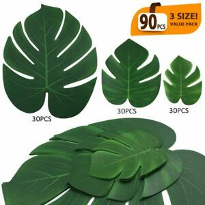 Eladeco 90 Pcs Artificial Tropical Palm Leaves Luau Party Decoration Monstera Fa