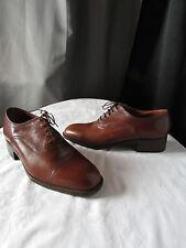 chaussures vintage clerget cuir marron/caramel pointure 7,5 EE