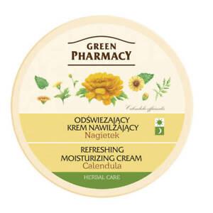 Green Pharmacy Refreshing Moisturizing  Face Cream Calendula for Dry Skin 150ml