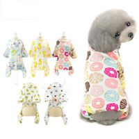 Spring Summer Dog Clothes Soft Small Dog Pajamas Printed Puppy Sleeping Jumpsuit