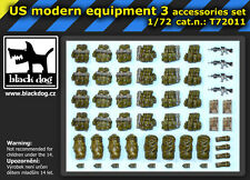 Blackdog Models 1/72 U.S. MODERN EQUIPMENT ACCESSORIES Resin Set #3