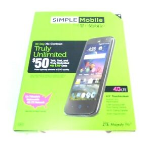"NEW Simple Mobile ZTE Majesty Pro LTE Z798 4G Android Smartphone 8GB 4.5"" 5MP"