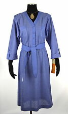 NWT! VTG 70s Leslie Fay Long Sleeve Classic Belted Dress ~ Sz 12 Petite
