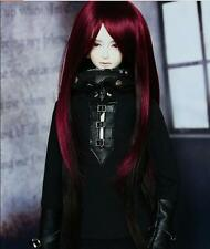 Bjd Doll Wig 1/3 8-9 Dal Pullip AOD DZ AE SD DOD LUTS Dollfie Red black Toy