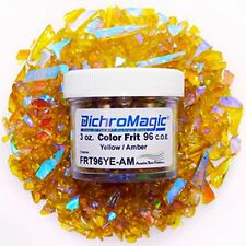 DichroMagic Austin COE 96 Dichroic Frit on Amber Yellow DF212 3 oz
