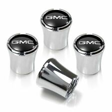 GMC Black and Silver Tire Valve Stem Caps Set of 4 MADE IN USA