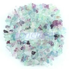 "Ss43 Violet Green Fluorite Gemstone GEM Chips Loose Beads Jewelry Findings 35""L"
