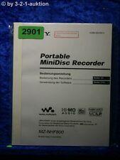 Sony Bedienungsanleitung MZ NHF800 Mini Disc Recorder (#2901)