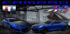 Hyper Blue Chevy Camaro Zl1 Vinyl Banner Garage Mancave Sign Flag 2 x 4'