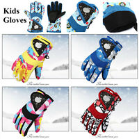 Outdoor Waterproof Windproof Ski Gloves For Kids Toddlers Boys Girls Winter Warm