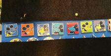 Disney 7 Pin Lot  2010 Hidden Mickey  HM Cast Lanyard