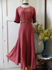 GORGEOUS LAURA ASHLEY HEAVY SILK CORPORATE, FORMAL OCCASION MIDI DRESS 12, 14