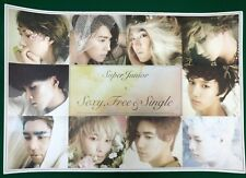 Super Junior -  6th Sexy, Free & Single Unfolded Official Poster Hard Tube Case