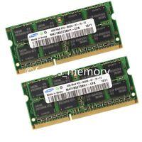 Samsung 8GB 2X4GB DDR3-1066MHz 204Pin PC3-8500 Laptop Memory SODIMM RAM Speicher