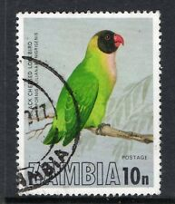 ZAMBIA = 1977 Birds of Zambia, 10n Black-cheeked Lovebird. SG264. Fine Used