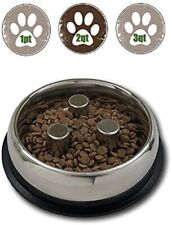 Top Dog Chews Brake-Fast Slow Feed Stainless Steel Bowls