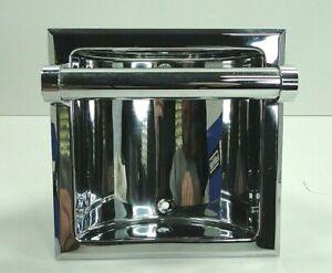 Vintage New Hall Mack Recessed Soap Holder Utility Bar chrome CORONADO 665