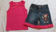 Custom Boutique Resell 6 7 Gymboree Fall for Monkeys Denim Jean Shorts Top Lot
