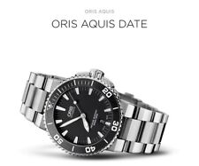 Oris AQUIS Black DATE MENS Steel  43mm DIVERS WATCH RRP $2999  SELLING in AUST