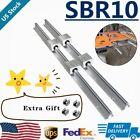 SBR10 Linear Rail Guide 300mm-1500mm Slide Shaft Rod+8X SBR10UU Bearing Block