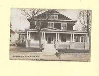 NE York 1909 RPPC real photo postcard HOME OF H D HALL NEBRASKA to Youngstown OH