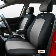 Fundas De Asiento Ajuste Universal Conjunto Completo Peugeot 206 Plata/Negro-Sport Line