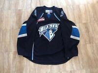 Saskatoon Blades Authentic Team Issued Road Blue Jersey WHL CHL MIC Reebok 54